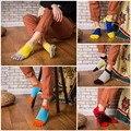 [COSPLACOOL] Nuevo 4 Colores Calcetines Transpirables Hombres Calcetines Hombres del Algodón Cinco Dedos Calcetines Calcetines Del Dedo Del Pie Ocasional