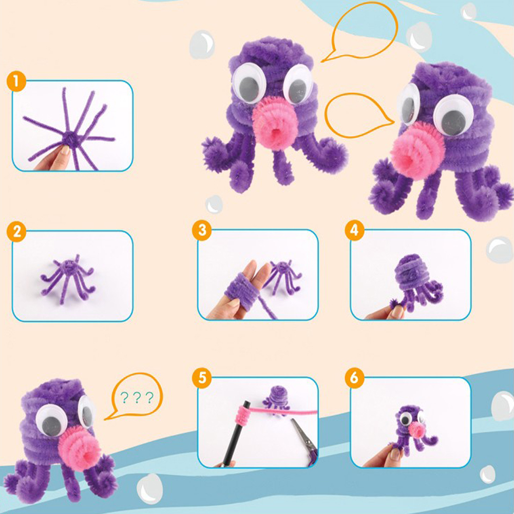 Diy Toys: Aliexpress.com : Buy 100pcs Montessori Materials Chenille