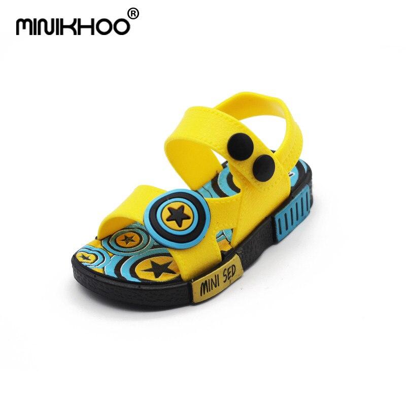 Mini Melissa Round Shield Boys Sandals Unisex Sandals Slip Resistant Shoes Girl Child Beach Sandals 12cm-17cm Children Shoes