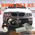 COMBO set LED angel eyes bulb and LED license plate lamp for BMW X5 E53