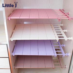 Rack Shelf Space-Saving-Rack Closet-Organizer Wardrobe Wall-Mounted Kitchen-Storage Adjustable