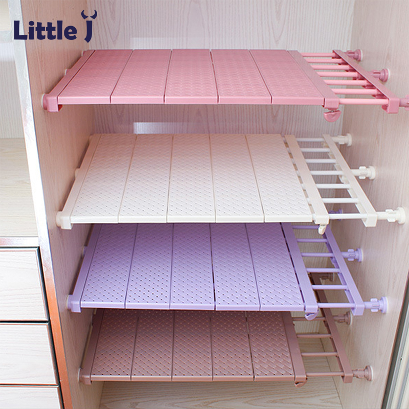 Adjustable Closet Organizer DIY Wardrobe Space-saving Rack Shoe Racks Wall Mounted Kitchen Storage Rack Bathroom Organizer Shelf