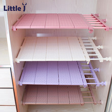 Adjustable Closet Organizer DIY Wardrobe Space-saving Rack Shoe Racks Wall Mounted Kitchen Storage Rack Bathroom Organizer Shelf(China)
