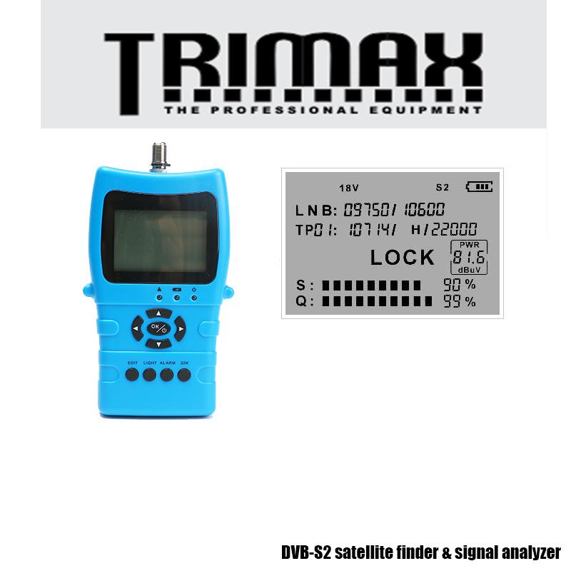 Prix pour D'origine trimax Plus Populaire Portable Satellite Finder mètre satellite FTA C KU Bande Numérique Par Satellite Finder Mete