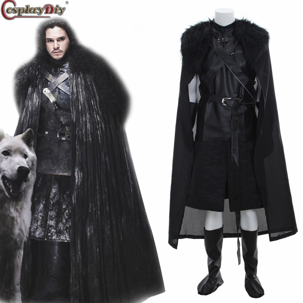 American TV Series Game of Thrones Cosplay Costume Jon Snow Cosplay Knight Role Play Costume Halloween Xmas Party Custom Made