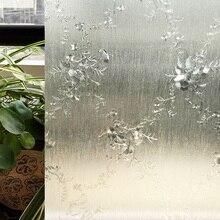 CottonColors Flor Decoración Window TINT Film Home Dormitorio PVC Etiqueta Engomada de Cristal, No-Pegamento 3D Estática Privacidad Tamaño 60×200 cm