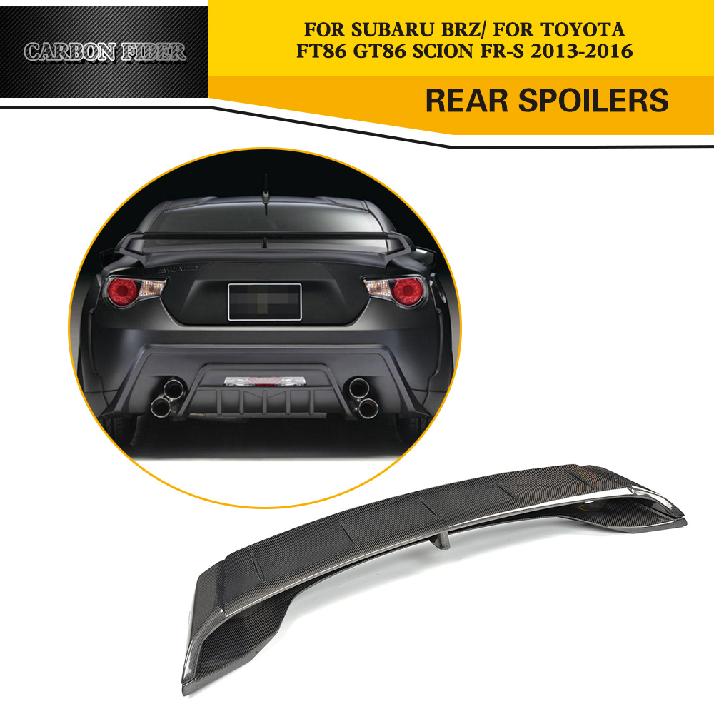 Compare prices on rear spoiler for subaru online shoppingbuy low gt86 brz carbon fiber racing rear spoiler wing for toyota gt86 ft86 subaru brz vanachro Gallery