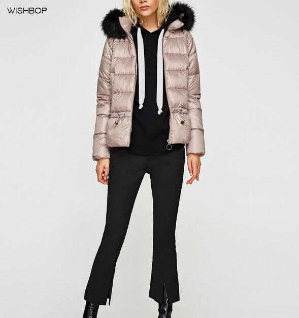 9504f1a8cde Detail Feedback Questions about WISHBOP NEW 2017 Winter Quilted jacket  Removable Faux fur hood long sleeves side pockets adjustable drawstring  waist WARM ...