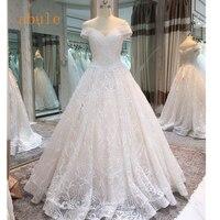 Принцессы настоящее свадебное платье с открытыми плечами Винтаж Милая Цветы Алина Кружева Бусы розовый Свадебные платья Vestido de Noiva
