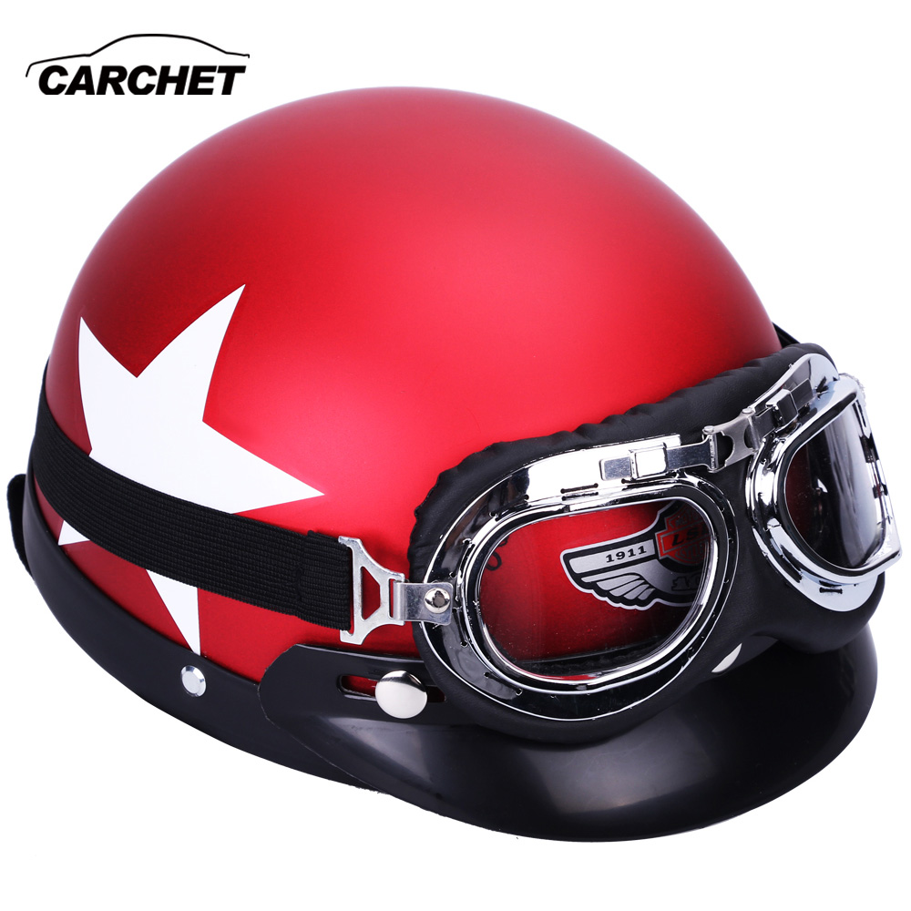 CARCHET moto rcycle Occhiali Casco 55-60 cm di Sicurezza di Protezione Caschi Da moto cross Caschi cascos para moto