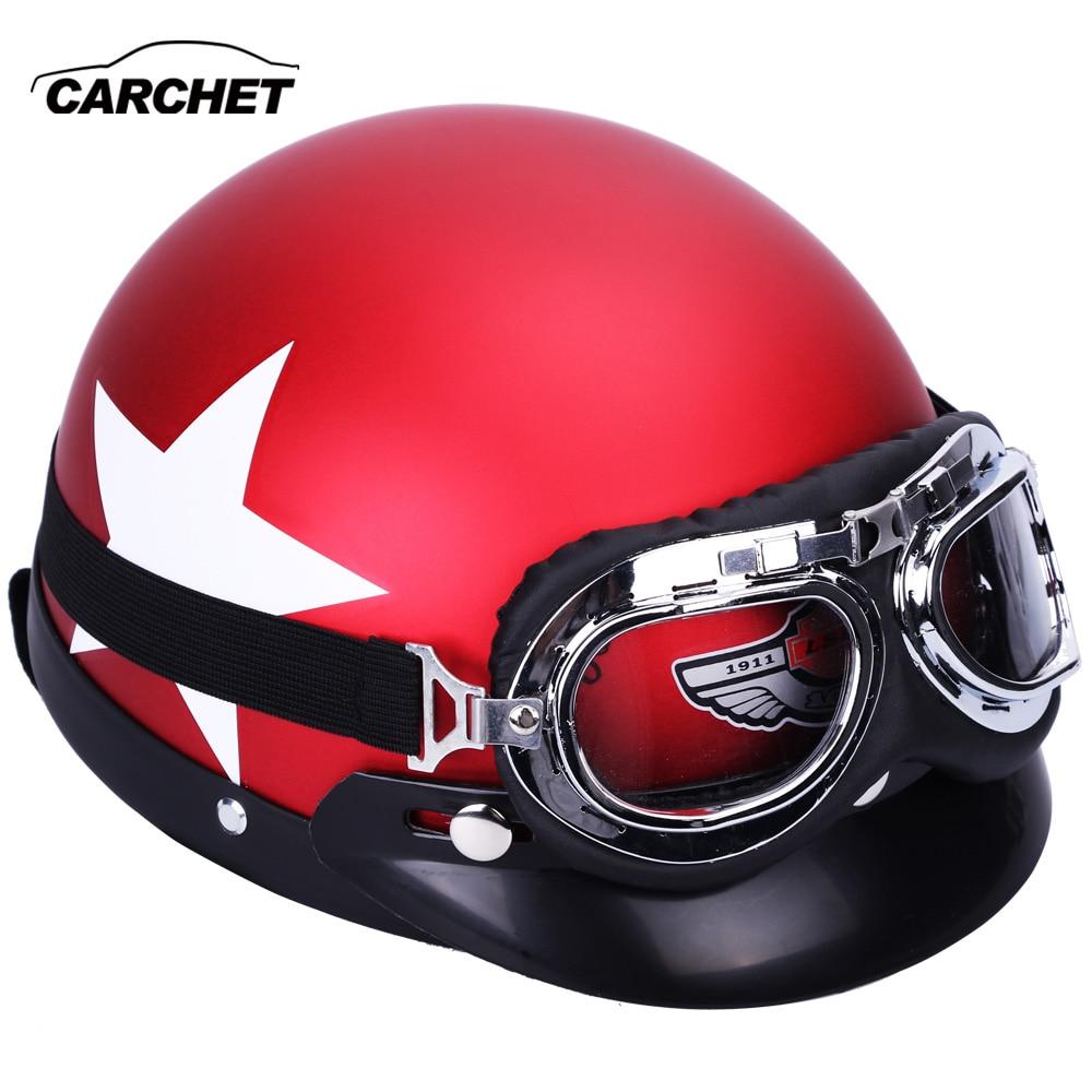 CARCHET Motorcykelhjälmglasögon 55-60cm Skyddssäkerhetshjälmar Motocrosshjälmar cascos para moto