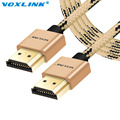 VOXLINK V1.4 HDMI Cable 1/2/3M Male to Male 1080P 3D for PS3 Projector HD LCD Apple TV Computer Cable Nylon Braid Gold Plated