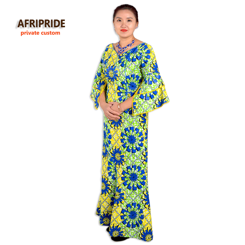 الكلاسيكية أفريقيا الملابس للنساء قطعتين دعوى النمط التقليدي الأفريقي أعلى + الكاحل طول تنورة المرأة عارضة القطن مجموعة A632603