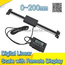 Бесплатная Доставка 0-200 мм Индикации Цифровой Линейный Весы с Удаленного Дисплея Внешний Дисплей правитель цифровой индикации удаленный дисплей
