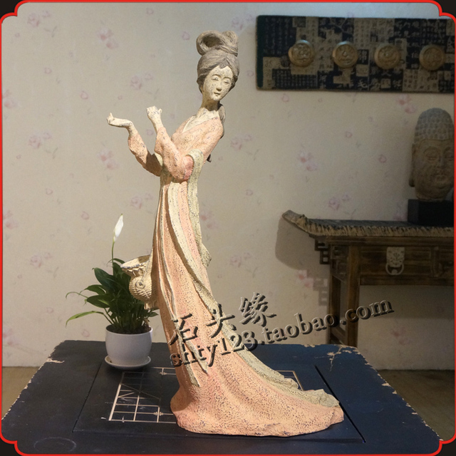 Chinese Antique Stone Edge Technology Office Opening Gifts Decorations  Ornaments Queen Hotel   Ancient Beauty