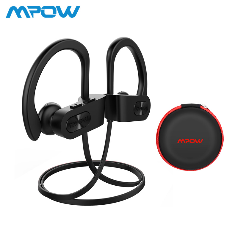 Mpow Flamme Drahtlose Kopfhörer Bluetooth V4.1 Wasserdichte IPX7 Kopfhörer Noise Cancelling Headset mit Mic Für iPone X 8 Xiaomi 8