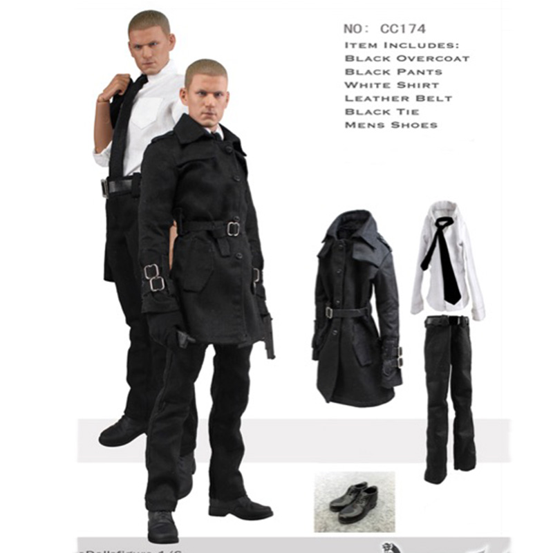 1/6 Male clothing set Scale Prison Break Movie Michael J Scofield prison Clothing for 12 inches Man Action Figure