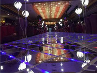 Mejor De moda de espejo de plata alfombra de plástico boda pasillo corredor luminoso piso Bar Club