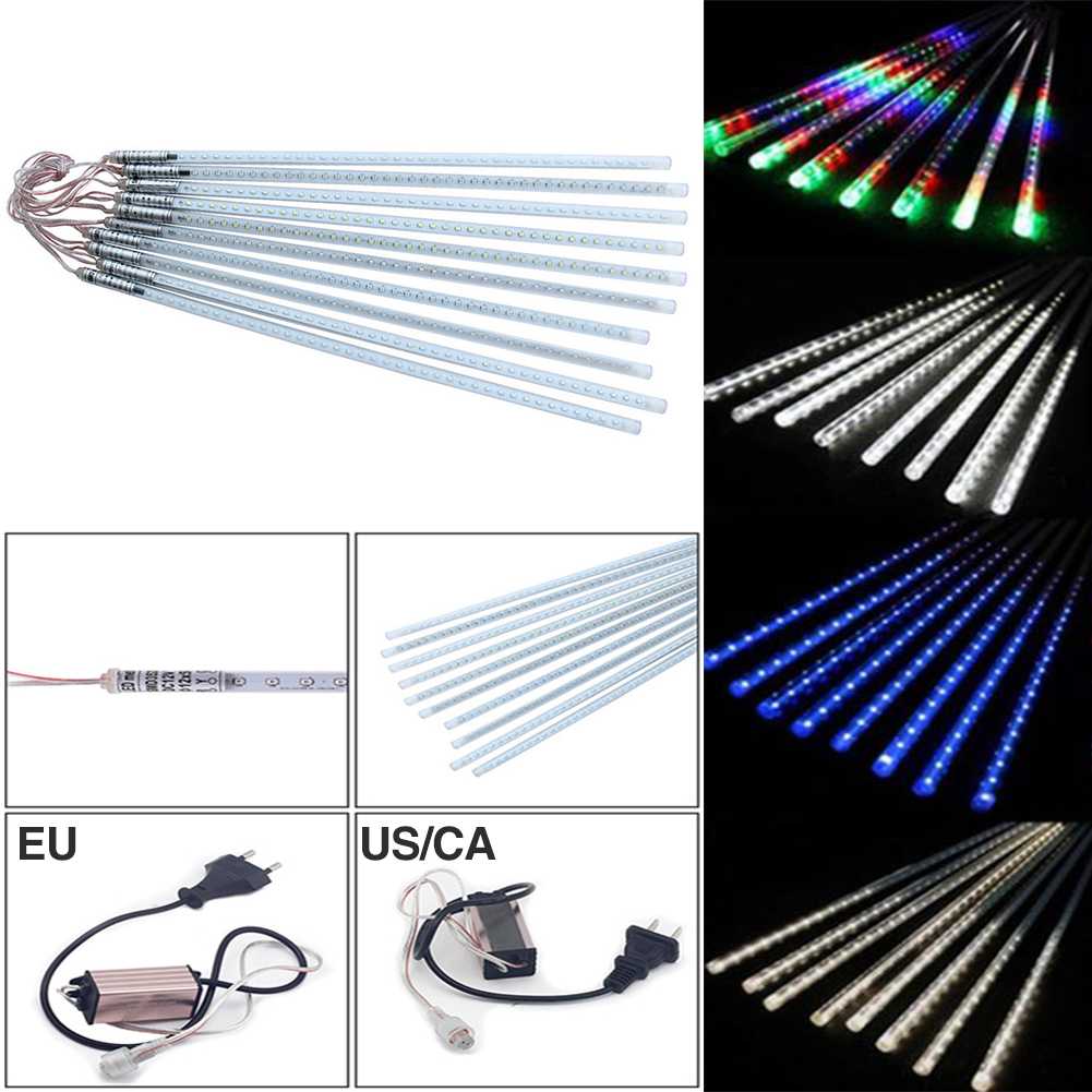 TSLEEN Free Shipping! LED Christmas Light Waterproof 30CM 50CM Meteor Shower Rain Tube Wedding Party String Light Decor Fixtures