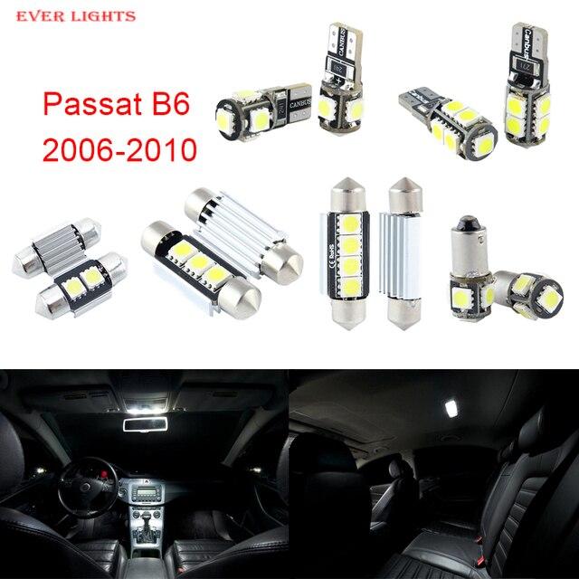 11 unids led canbus luces interiores kit package para volkswagen vw passat b6 (2006-2010)