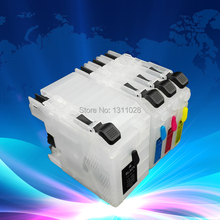 Чернила способ модели принтеров в Северной Америке, LC109BK LC105 C M Y пустой многоразового струйных картриджей с чипами, короткий тип, BK 70 мл