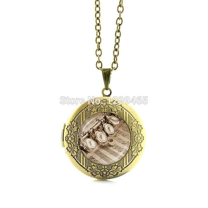 Музыкальный инструмент изображение медальон со стеклом высокого примечание стиль скрипки серьги подвеска-музыкальные ноты Гитары Celt Арфы ювелирные изделия N900