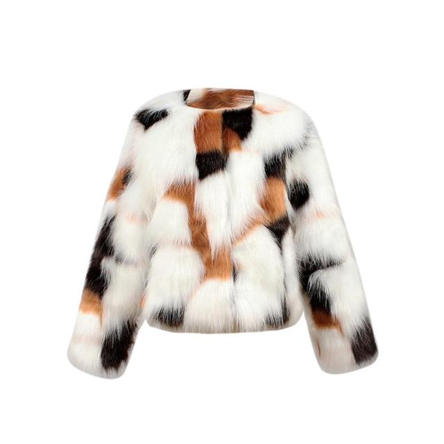 4a22d99954ec Kids Baby Girls Autumn Winter Faux Fur Coat Jacket Thick Warm ...