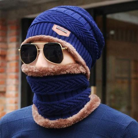 2018 Men Beanies Knit Hat Winter Cap For Man knitted Cap Boys Thicken Hedging Cap Balaclava Skullies Fashion Warm knit Beanie Islamabad