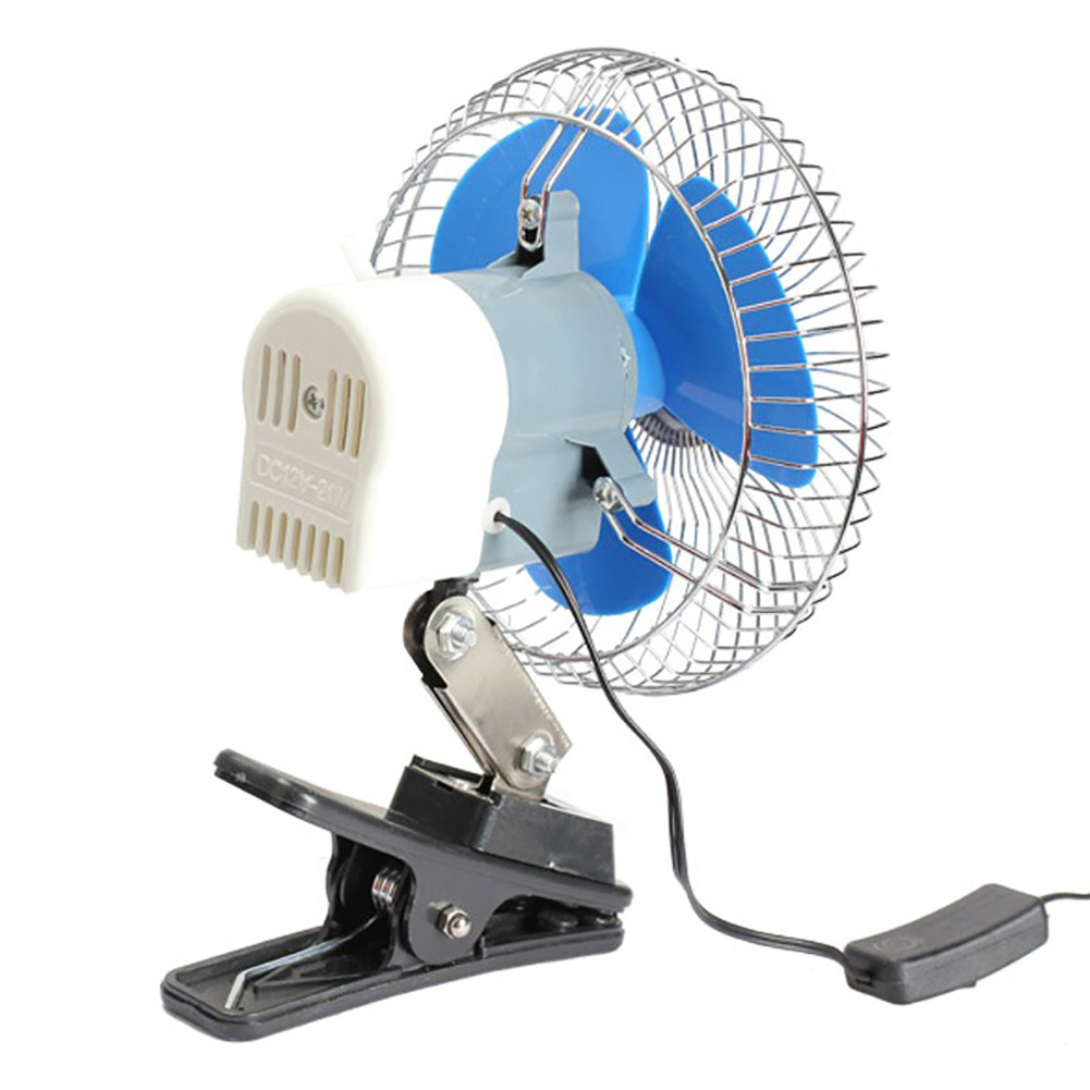 12 24V Mini Summer Car Low Noise Air Conditioner Rotatable Clip Cooling Fan in Fans Kits from Automobiles Motorcycles