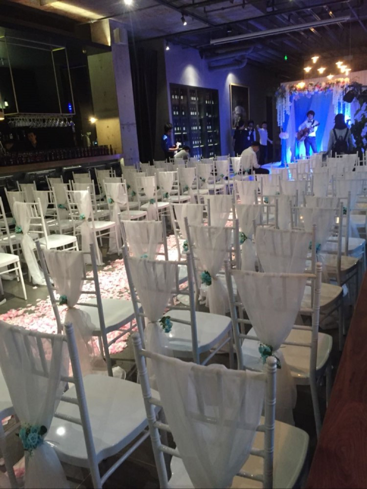Белый свадебный стул покрывает шифон материал на заказ 54x180 см стул пояса свадебные принадлежности