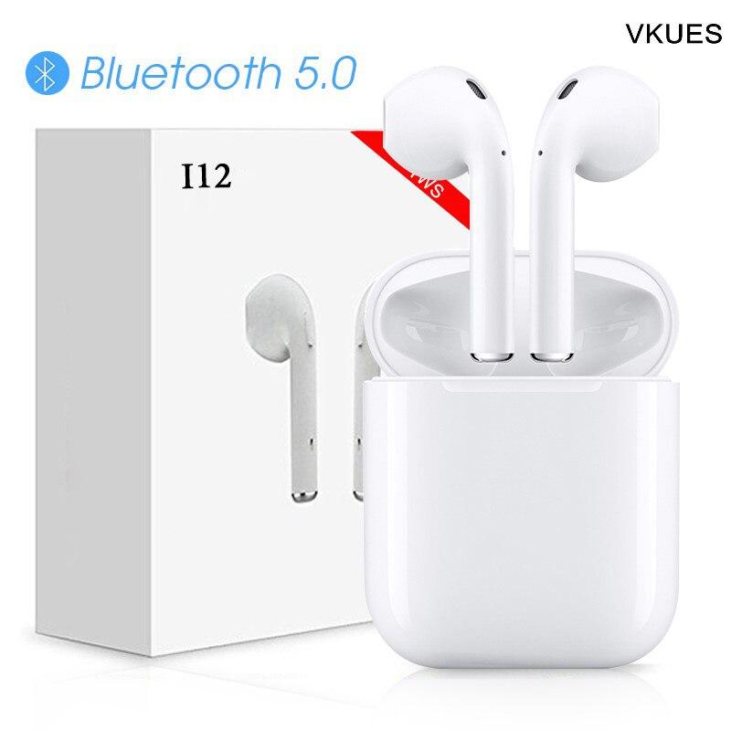 D'origine Vrai Sans Fil i12 TWS Binaural Appel 1:1 Taille Aire gousses mini bluetooth 5.0 3D super écouteurs spécis basses pour apple iPhone xiaomi