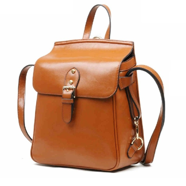 Aliexpress.com : Buy 100% Genuine Leather Backpack Women Female ...