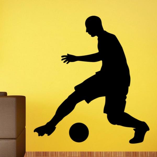 Us 8 88 Fußball Soccer Dribbling Die Ball Skizze Mode Fenster Hochzeit Decor Wandaufkleber Schlafzimmer Tapete Wand Aufkleber Room Decor In