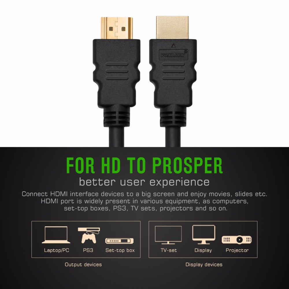 2160P 8M Gold Plated HDM Male to HDMI Male Audio Video Cables HDMI ...