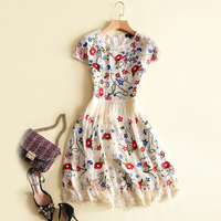 European And American Lady Designer Mini Dress 2018 Spring And Summer New Women S Clothing Short