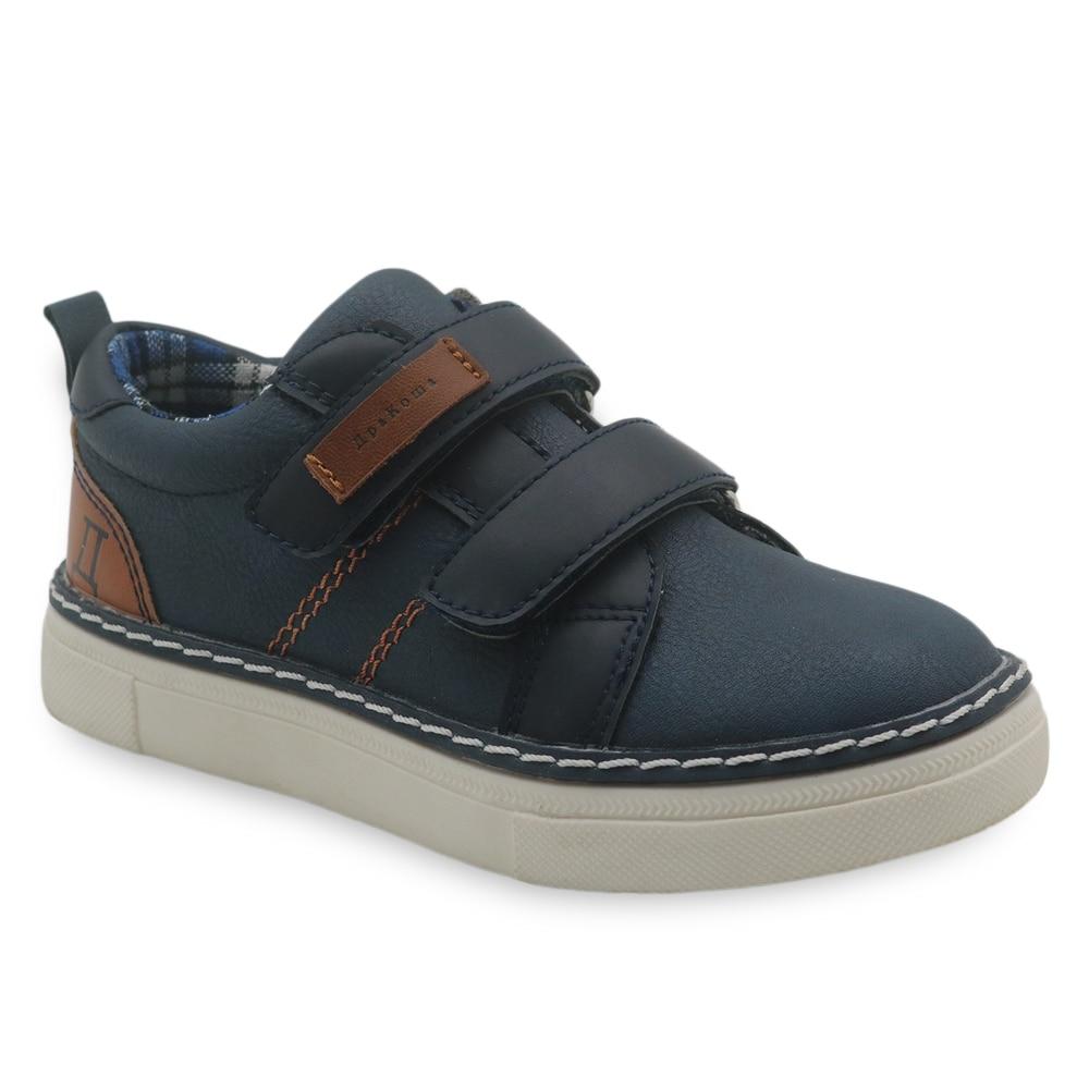 Apakowa Kids Boys Casual Shoes Solid Color Breathable Comfort Boys Sneaker Rubber Bottom Soft Children School Shoes Size 26-31