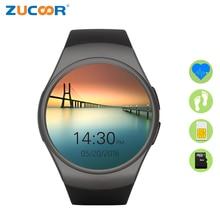 Men Women s Smart Watch Phone KW18 Full Round Screen Heart Rate Monitor Smartwatch Bluetooth Smart