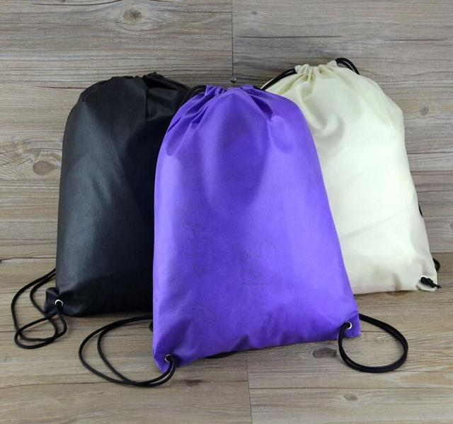 10 piezas portátil gimnasio saco barato no tejidos mochila bolsa para  deportes al aire libre viajes 3c45cb29879f6