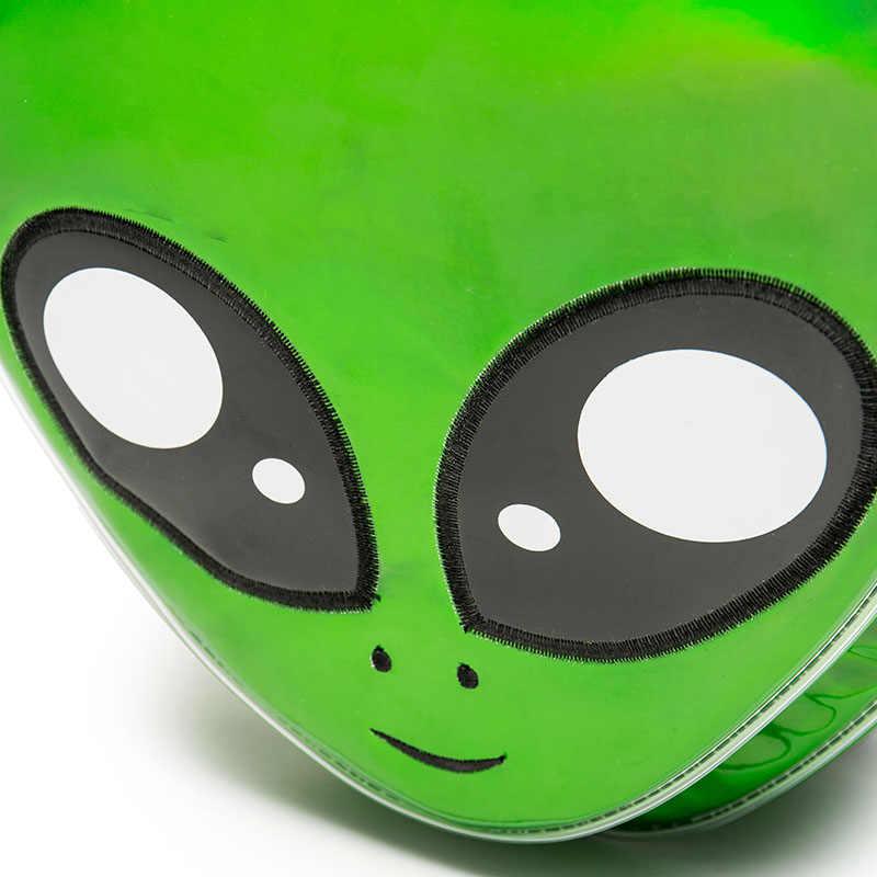 2019 neue Nette Alien Rucksack Grün Laser Mädchen Schule Tasche für Jugendliche Frauen Rucksack Harajuku Stil Cartoon Tier Mochilas