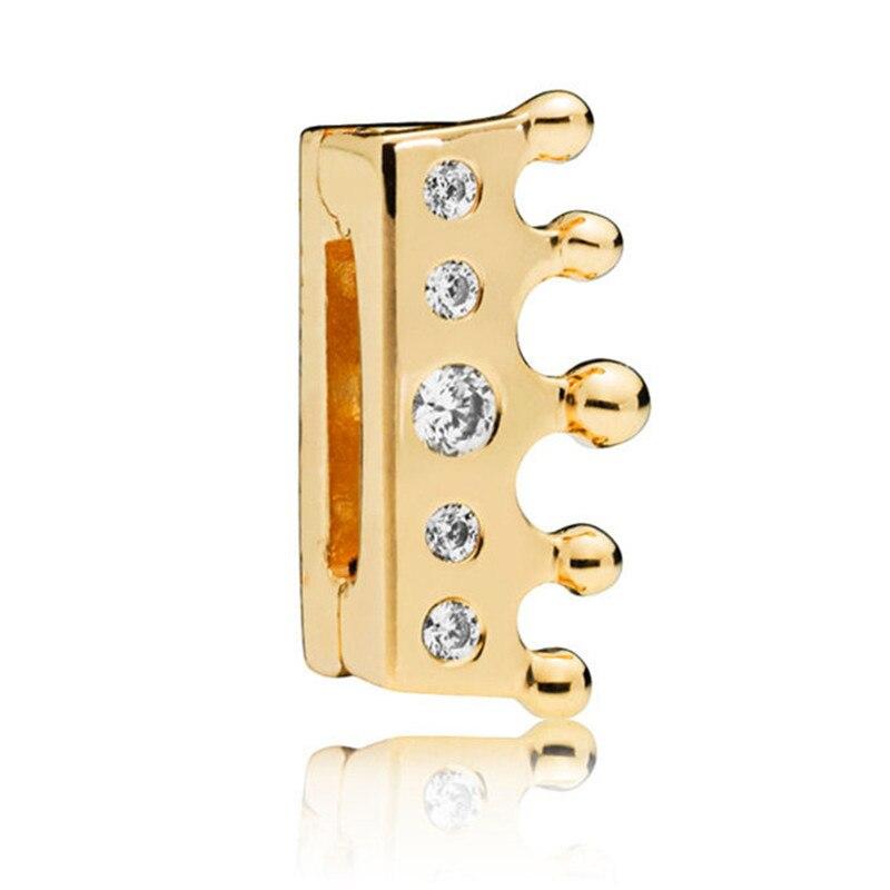 93821f83b8a5 2018 nuevo 925 cuentas de plata esterlina brillar reflexiones corona de  Clip Charm Fit Original Pandora reflexiones de las mujeres de la pulsera de  la ...