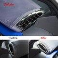 Tonlinker Обложка Наклейка для Toyota CHR 2018 автомобильный Стайлинг 2 шт АБС ХРОМ приборная панель маленькая розетка украшение чехол стикер s