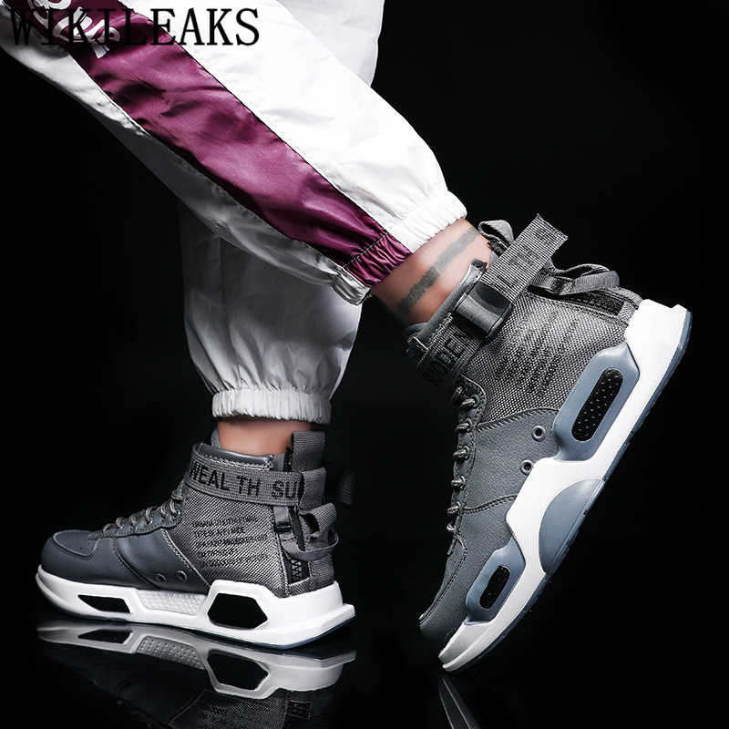 Sapatilhas superiores altas dos homens sapatos casuais sapatos de couro venda quente homens tênis branco conforto unisex marca sapatos de grife homens 2019 bona