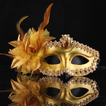 Princess Sequin  Masquerade Stick Flower Handheld Eye Mask Dance Party Night Club Carnival Parade