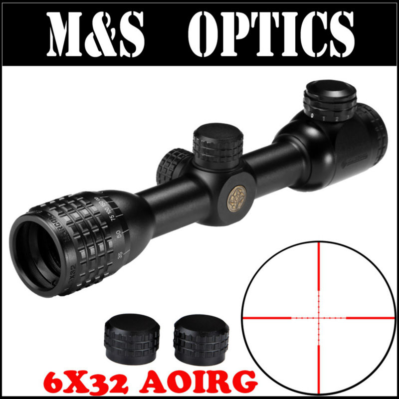 Mini MARCOOL BLT 6X32 AOIRG Optical Sight Hunting Riflescope Scope For Air Guns Rifle China marcool 6 24x50 sfirgl ffp side focus hunting optical sight for rifles free scope rings mount