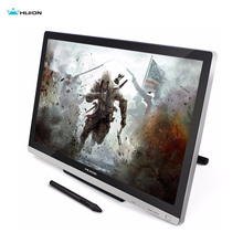 Huion gt220 digital tablet monitor 21.5 ips recentemente projetado tela de toque caneta para ganha livre protetor luva adaptador presentes