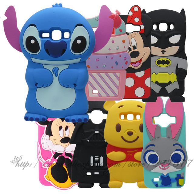 Cartoon character Silicone Back Cover Case For Samsung Galaxy Win i8550 Duos I8552 8552 GT-i8552 i8558 Cover Skin Flip Phone Bag