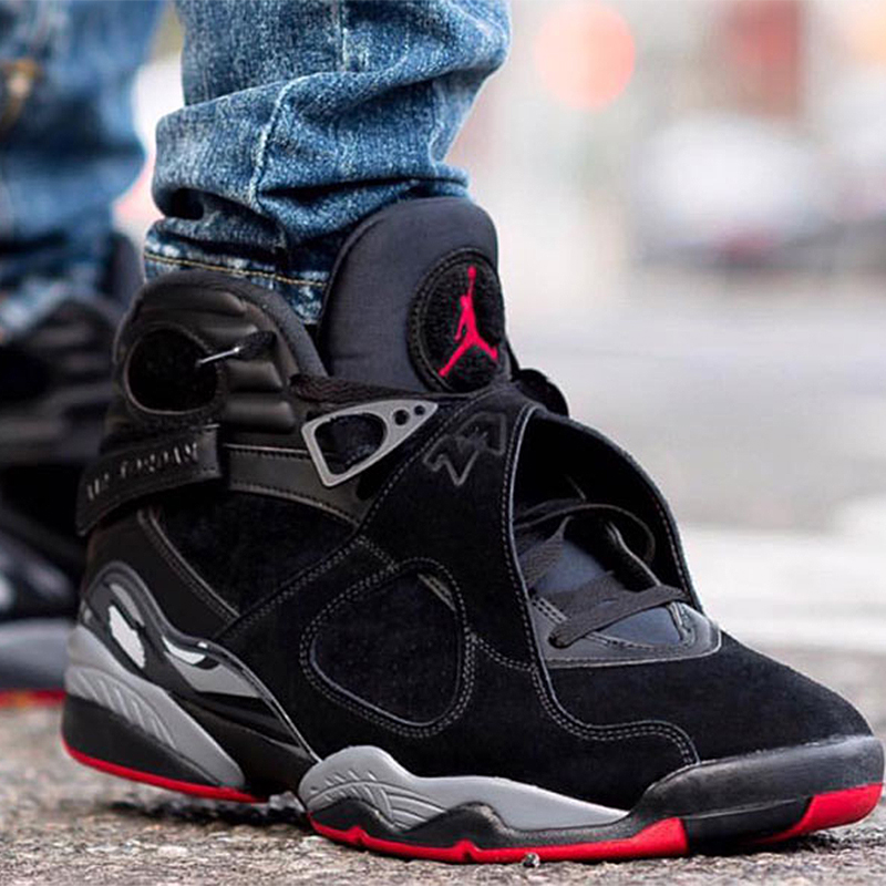 sports shoes 53cdc 3d3c0 Original New Arrival Authentic Air Jordan 8 Cement Black Men's Basketball  Shoes Sneakers Outdoor Sport Comfort Shoes