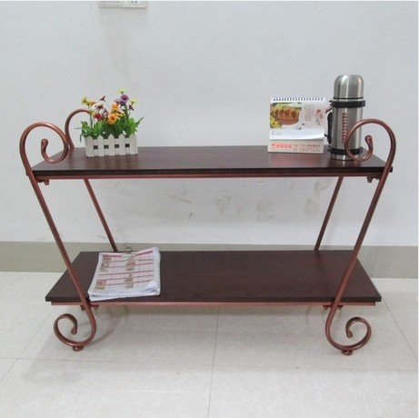 Simple And Stylish Wrought Iron Table Tv Cabinet Wood Stands