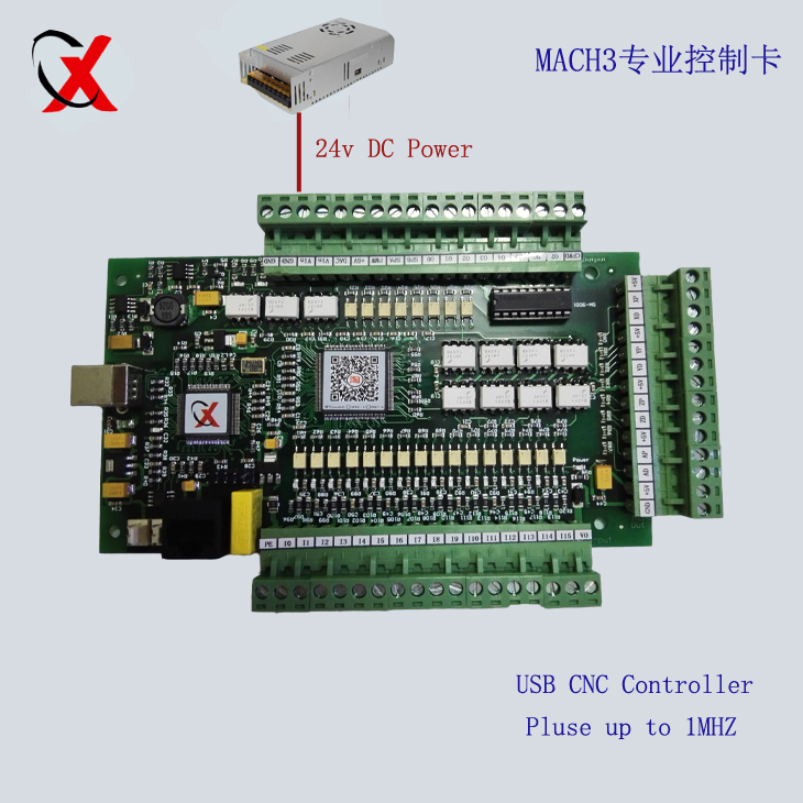 E CUT upgrade 3Axis USB CNC Mach3 Controller Card Interface Breakout Board 1000KHZ freeshipping 0 to 10 vpwm spindle speed controller mach3 interface board