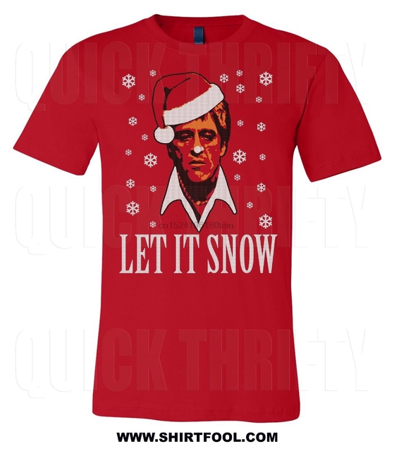 Scarface Tony Montana Christmas Sweater Style Let It Snow T Shirt In